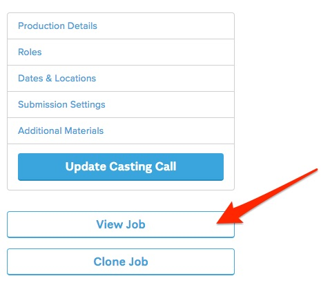 Modifying a Casting Notice – Backstage Help Center
